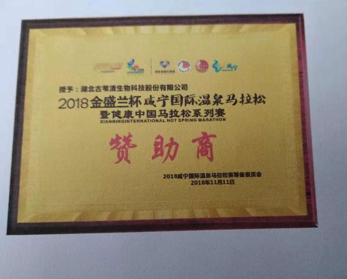 2018金盛兰杯咸宁国际温泉马拉松暨健康中国马拉松系列赛
